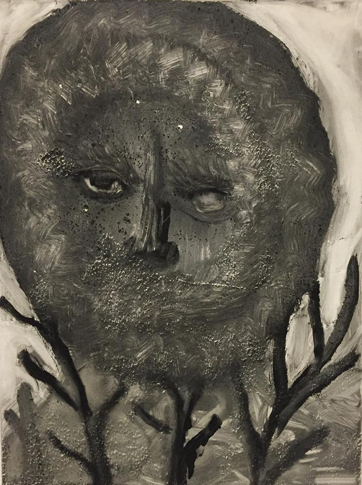 Andrea Fiorino, Senza titolo, monotipo, cm 25,5x19,5