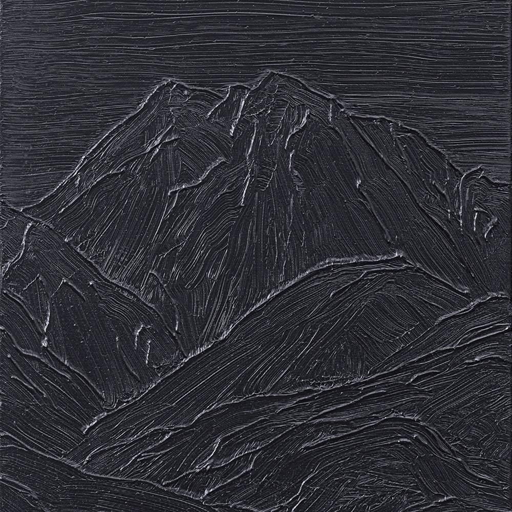 Sven Druehl, DR Undead, 2016, olio e silicone su tela, 30 x 30 cm