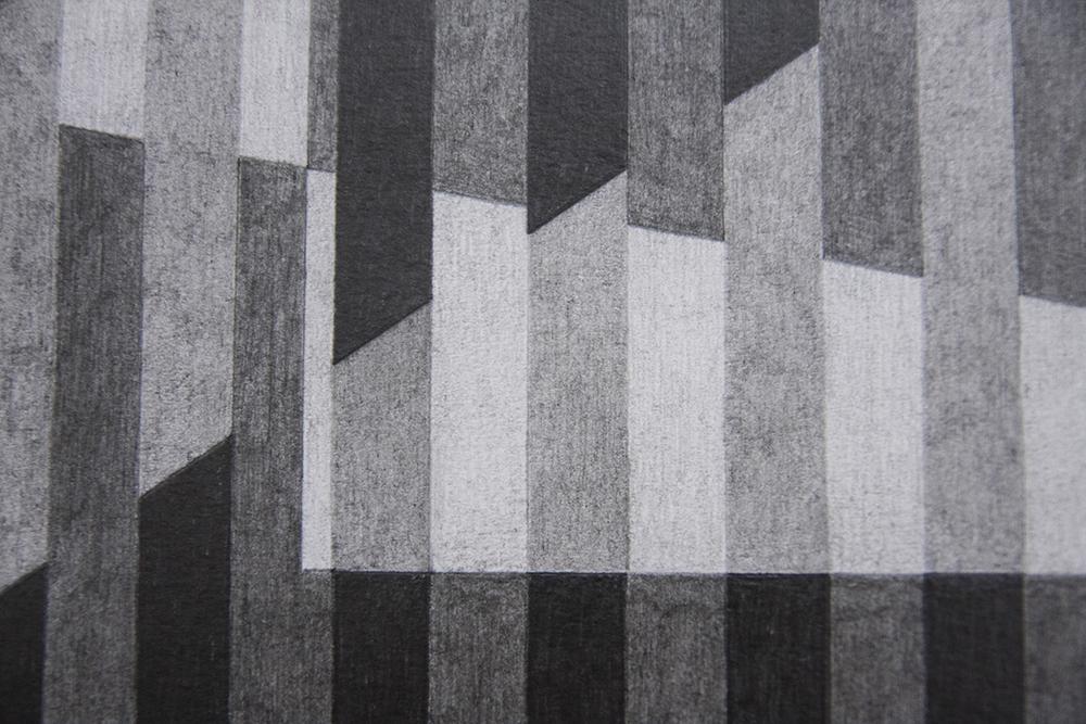 Kay Arne Kirkebø, Everything is equally close (dettaglio), 2018, disegni a matita, cm 42x31