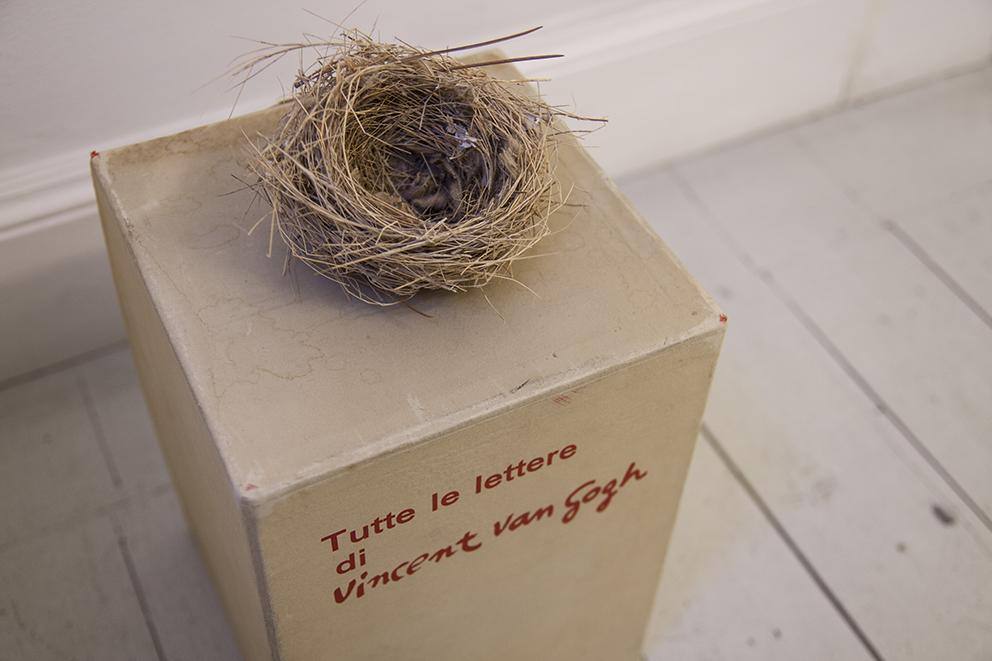 Andrea Guerzoni, Complemento oggetto interno 03, 2017, nido, Tutte le lettere di Vincent van Gogh