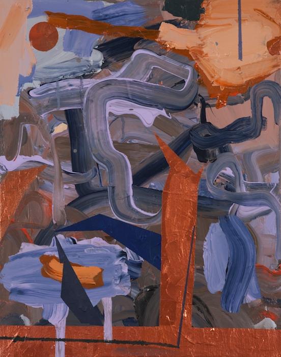 Federico Luger, Chimney, 2013, acrilico su tela, 45 x 40 cm