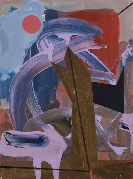 Federico Luger, Chimney, 2013, acrilico su tela, 40 x 30 cm