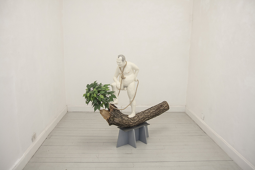 Miro Trubac, Judas, 2017, tecnica mista, 140 x 105 x 40 cm
