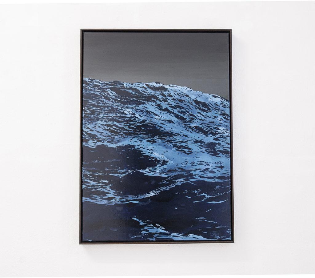 Sven Drühl, S.D.G.M. VIII, 2017, lacca su tela, 85 x 60 cm