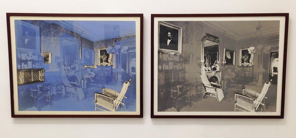 Roger Welch, senza titolo, 1979, fotografie bn e acrilico su carta, cm 50x65 cad.