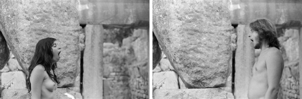 Maya Quattropani, BRP Sbadigli nelle Madonie, 2010, fotografie Reflex analogiche, pellicola 35 mm B/N, stampe fine art ai sali d'argento su carta baritata, cm 80x120