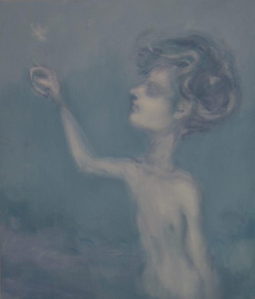 Alessandro Saturno, Come le lucciole, 2015, acrilico e olio su tela, 70x60 cm