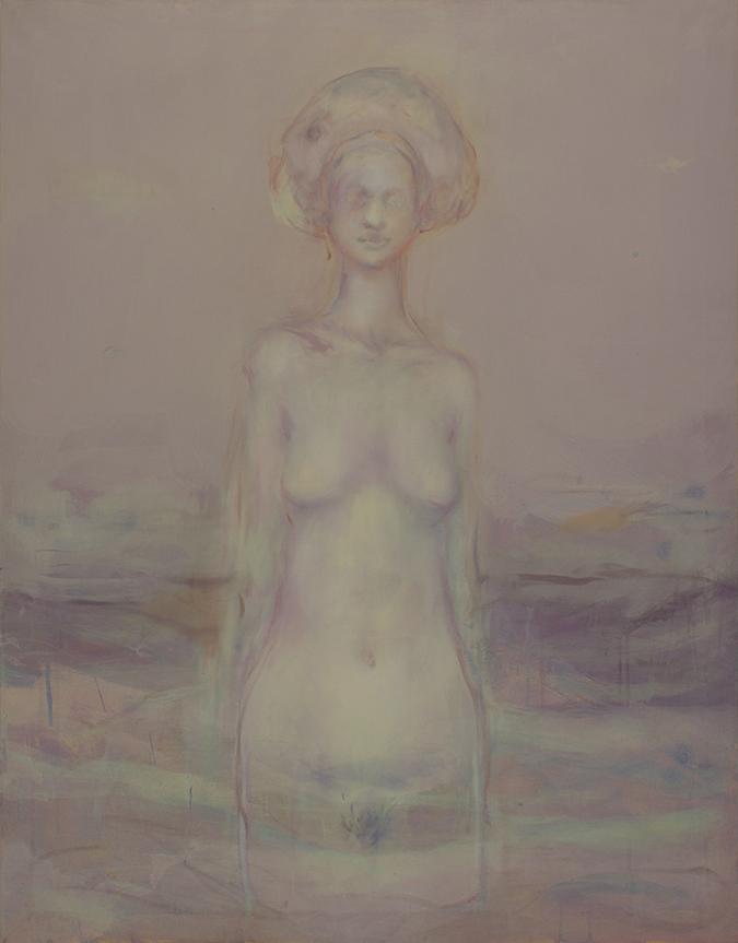 Alessandro Saturno, Riflesso, 2014, acrilico e olio su tela, cm 131x102