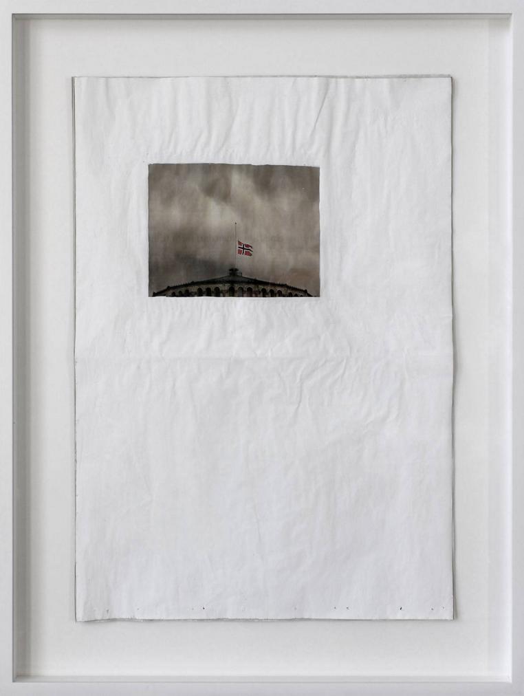 Susanne Schuricht, Frontpages 010-1, 2010, giornale, pittura, 40x57 cm