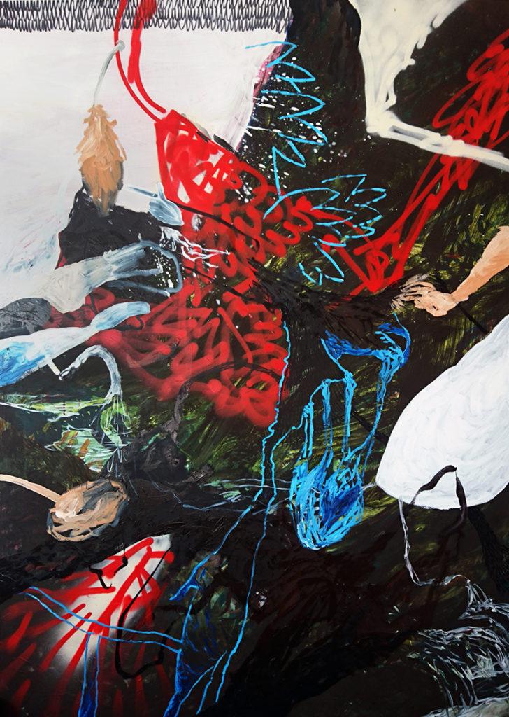 Manuel Portioli, Untitled, 2016, tecnica mista su tela, 200x140 cm