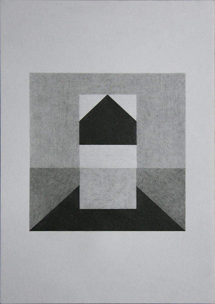 Kay Arne Kirkebø, Everything is equally close, 2018, disegno a matita, cm 42x31